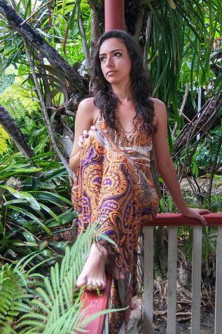 Giselle durante la filmación del video clip del tema ''Una Mujer'', de Jorge Luis Borrego