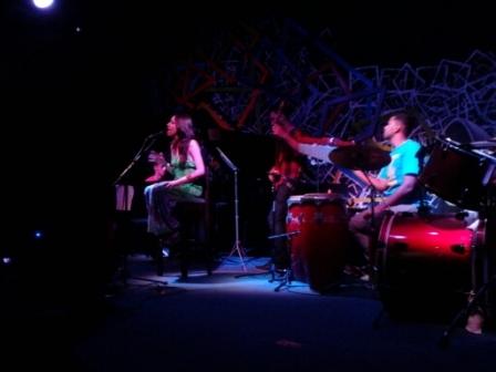 En el Iris Jazz Club, con su gruipo